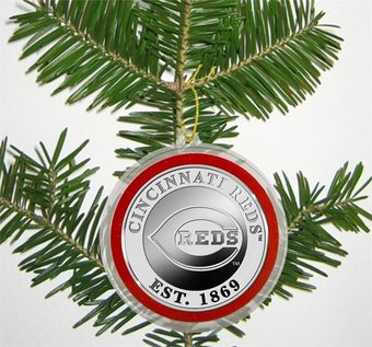 Baseball - Cincinnati Reds - Silver Coin Ornament