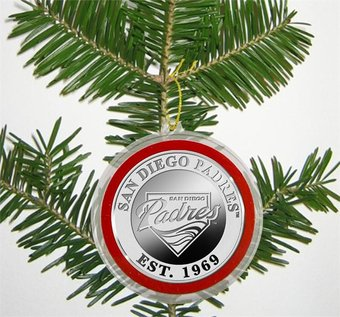 Baseball - San Diego Padres - Silver Coin Ornament
