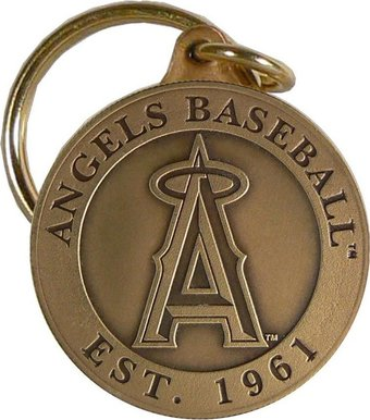 Baseball - Los Angeles Angels - Bronze Key Chain