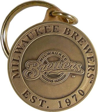 Baseball - Milwaukee Brewers - Bronze Key Chain