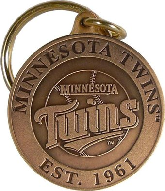 Baseball - Minnesota Twins - Bronze Key Chain