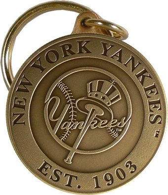 Baseball - New York Yankees - Bronze Key Chain