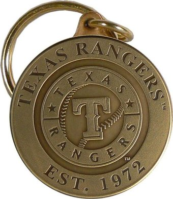 Baseball - Texas Rangers - Bronze Key Chain