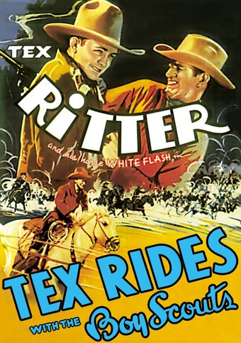"Tex Rides with the Boy Scouts - 11"" x 17"" Poster"