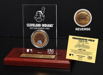 Baseball - Progressive Field Infield Dirt Coin