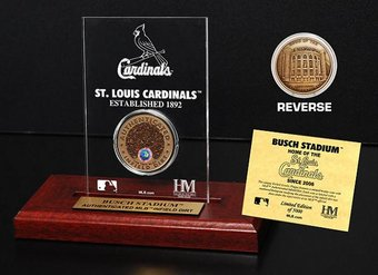 Baseball - Busch Stadium Infield Dirt Coin Etched