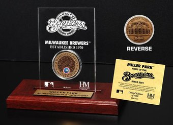 Baseball - Miller Park Infield Dirt Coin Etched