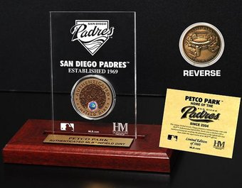 Baseball - Petco Park Infield Dirt Coin Etched