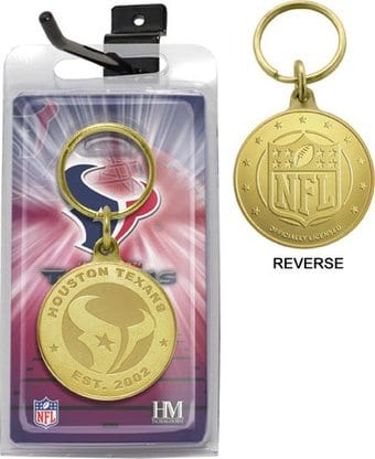 Houston Texans Bronze Bullion Keychain