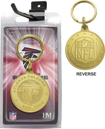 Atlanta Falcons Bronze Bullion Keychain