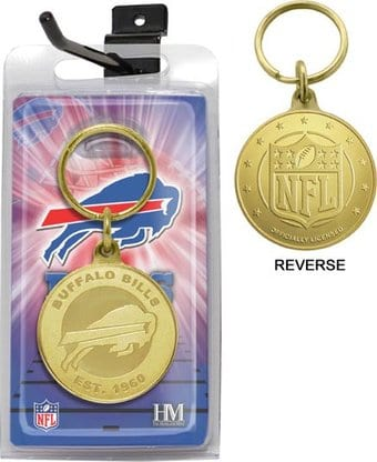 Buffalo Bills Bronze Bullion Keychain