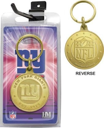 Football - New York Giants Bronze Bullion Keychain
