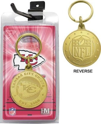 Kansas City Chiefs Bronze Bullion Keychain