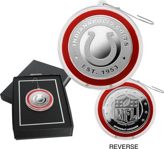 Football - Indianapolis Colts Silver Coin Ornament