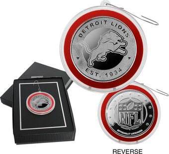 Football - Detroit Lions Silver Coin Ornament