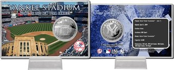 Baseball - Yankee Stadium Silver Coin Card
