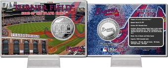 Baseball - Turner Field Silver Coin Card