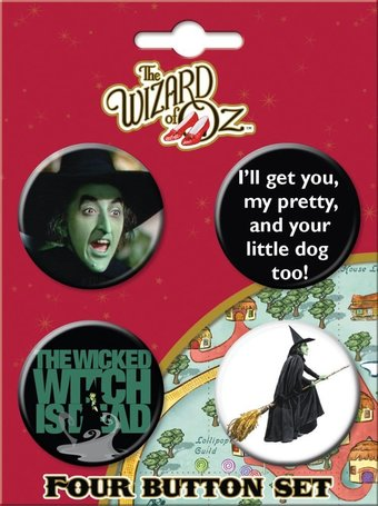 Wizard of Oz - Wicked Witch - Button Set