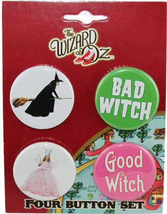 Wizard of Oz - Good Witch Bad Witch - Four Button