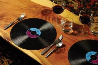 Vinyl Record Placemats (Set of 2)
