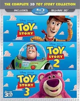Toy Story 3D Trilogy (Blu-ray, 3D)