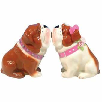 Puppy - Bulldogs - Salt & Pepper Shakers