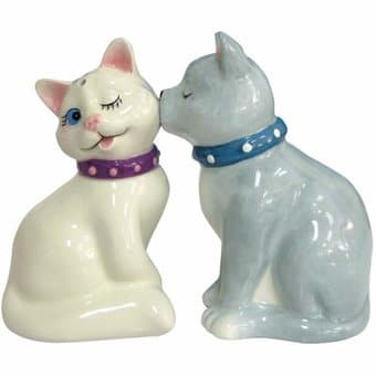 White & Gray Cats - Salt & Pepper Shakers