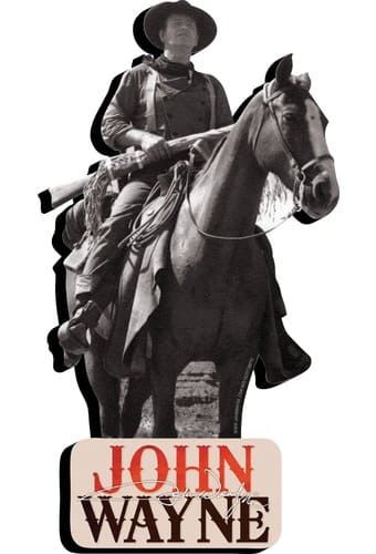 John Wayne - Duke On Horse - Chunky Magnet