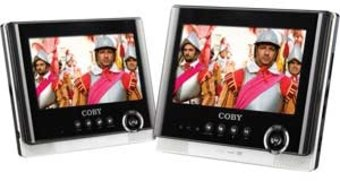 "Coby TFDVD7751 Dual Screen 7"" Tablet Portable DVD"