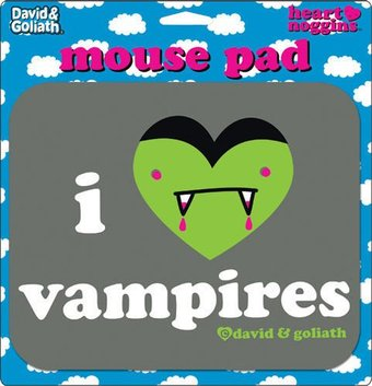 David & Goliath - I Heart Vampires Mouse Pad