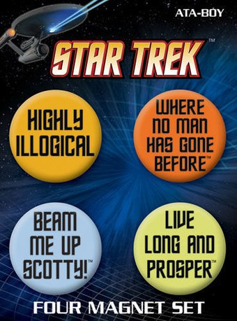 LMTD: Star Trek - Quotes 4 Pack Round Magnet Set