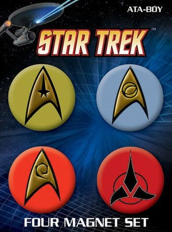 Star Trek - Insignias 4 Pack Round Magnet Set # 1