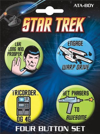 Star Trek - Classic Carded 4 Button Set