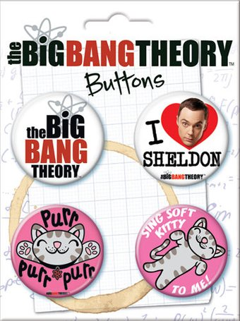 The Big Bang Theory - Carded 4 Button Set (Set 3)
