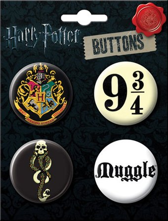 Harry Potter - 4-Piece Round Button Set