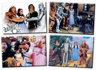 The Wizard of Oz - Set of 4 Magnets (Set 1)