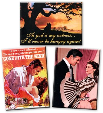 Gone With The Wind - 3-Piece Magnet Set (Set 1)