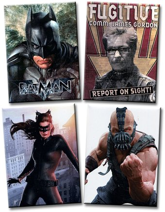 Batman: The Dark Knight Rises - 4-Piece Magnet Set