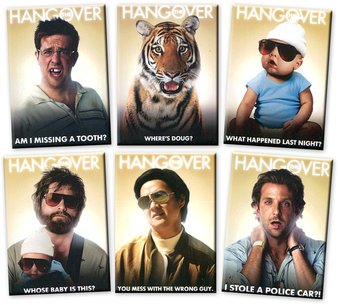 The Hangover - Set of 6 Magnets