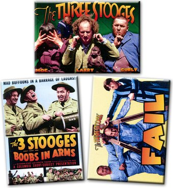 The Three Stooges - Set of 3 Magnets
