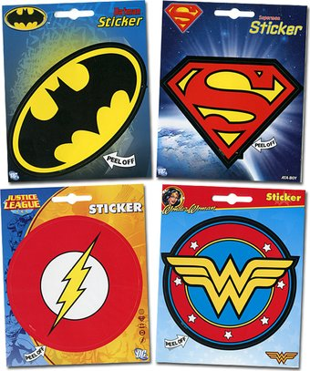 DC Comics - Logos - 4-Piece Sticker Set