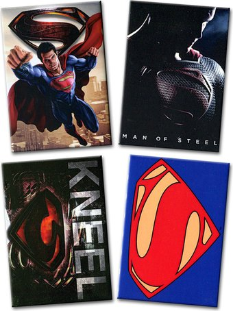 Superman: Man of Steel - 4-Piece Magnet Set (Set