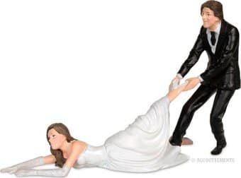Funny Wedding Cake Topper - The Reluctant Bride