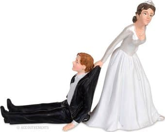 Funny Wedding Cake Topper - The Reluctant Groom