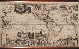 The Americas 1719 Giclee Scroll