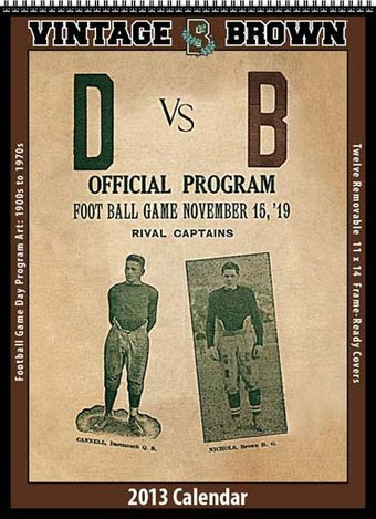 Brown Bears - Vintage 2013 Football Calendar