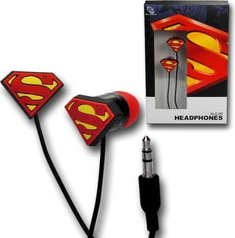 DC Comics -Superman Logo Rubber Ear Buds