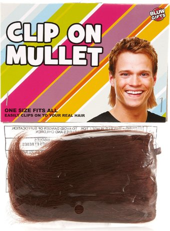 Clip On Mullet - Novelty Halloween Costume Party