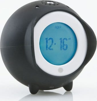 Tocky Touch - Black Rolling Alarm Clock