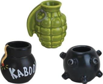 Get Bombed - 3-Piece Shot Glass Set